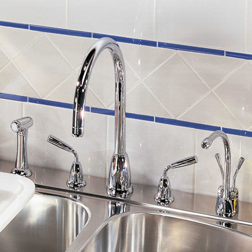 Perrin & Rowe Titan - C Spout 4876 (with Rinse) Kitchen Tap