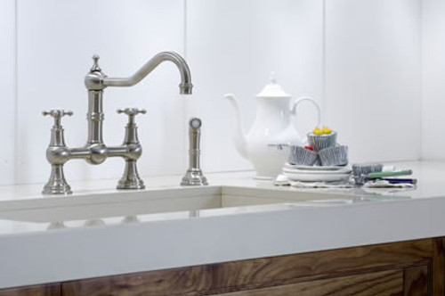 Perrin & Rowe Provence 4755 (Crosshead Handles and Handrinse) Kitchen Tap