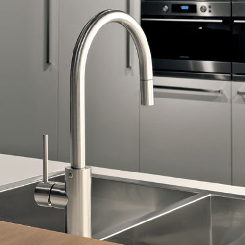 Gessi OXYGEN Curved Swan Neck Pull-Out Tap