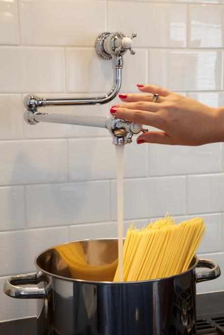 Perrin & Rowe Pot Filler 4798 - Crosshead Handle Kitchen Tap