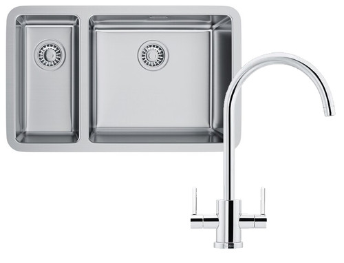 Franke Kubus KBX160 45-20 Kitchen Sink with Krios J Tap Pack