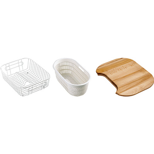 Franke EUX/CRX/CPX Accpack B Consisting of a Basket, Strainer and Board White 112.0050.424