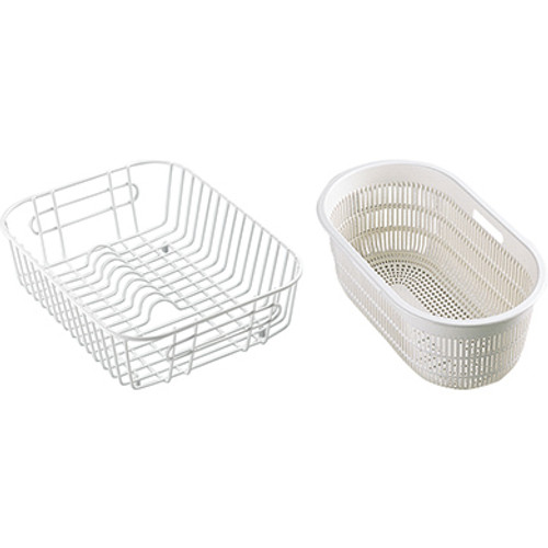 Franke EUX/CRX/CPX Accpack A Consisting of a Basket and Strainer Bowl White 112.0050.416