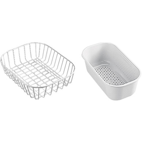 Franke COG Accpack CA Consisting of a Basket and Strainer White 112.0050.428