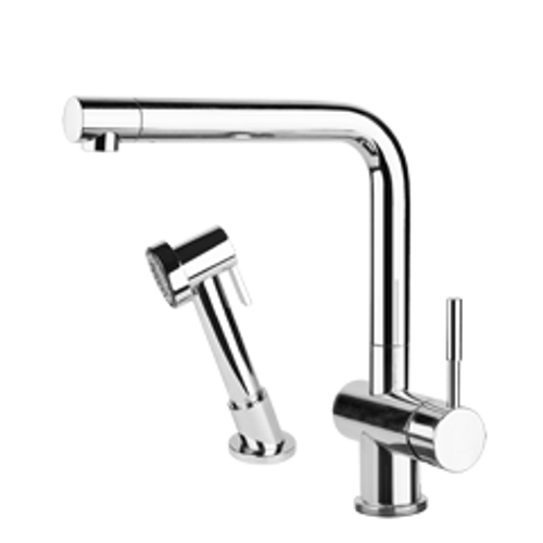 Gessi OXYGEN Curved Tap with Pull-Out Rinse