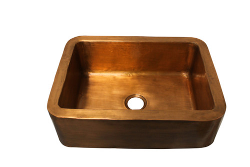 Eclectica Etienne Brushed Copper Kitchen Sink