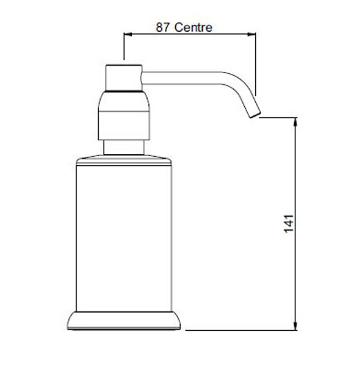 Perrin and Rowe Contemporary Collection Freestanding Soap Dispenser 6433