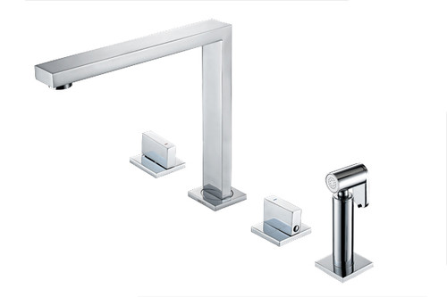 1810 Novanta 4 Hole Design Kitchen Tap with Hand Spray