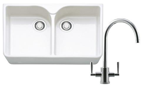 Franke Belfast VBK720 Kitchen Sink with Olympus Tap Pack