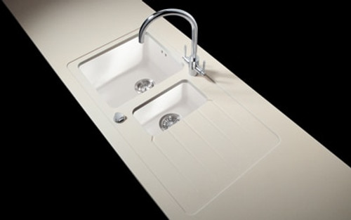 Minerva Caramel Crunch Acrylic Sink Modules 3050 x 650mm 1.5 bowl white acrylic