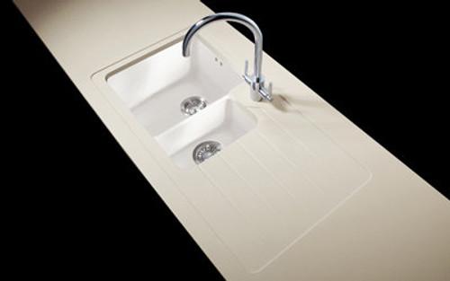 Minerva Caramel Crunch Acrylic Sink Modules 3050 x 650mm 1.5 designer bowl white acrylic