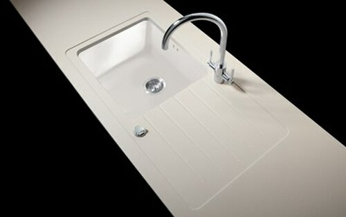 Minerva Grey Crystal Acrylic Sink Modules 3050 x 650mm single large bowl white acrylic