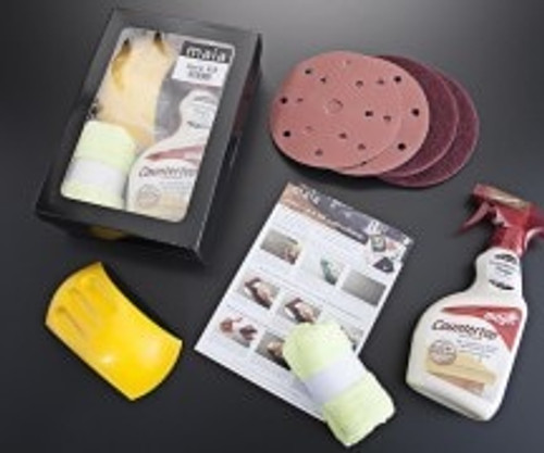 Minerva Grey Crystal Acrylic Accessories Care kit