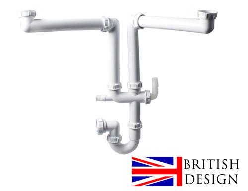 British Precision Plumbing Double Bowl Plumbing Kit