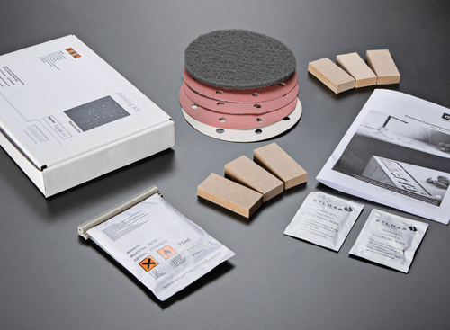 Minerva Concrete Haze Acrylic Accessories Joint kit (inc 75ml adhesive, sanding pads & mdf blocks)