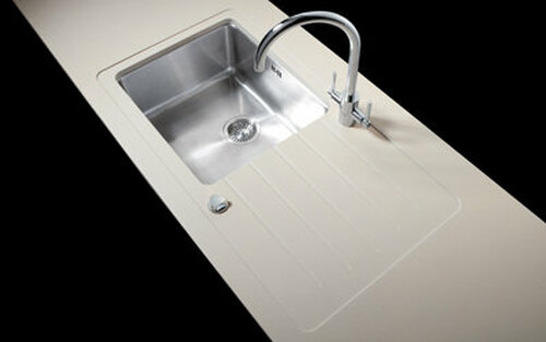 Minerva Concrete Haze Acrylic Sink Modules 3050 x 650mm super large single bowl s/steel