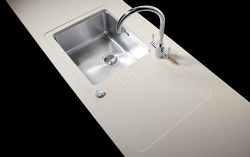 Minerva Travertine Haze Acrylic Sink Modules 3050 x 650mm super large single bowl s/steel