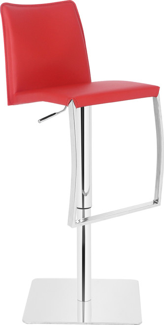 Eccellente Signature Real Leather Bar Stool Red