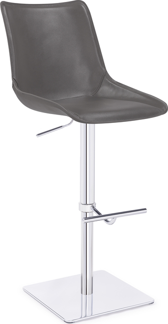 Magnifico Signature Real Leather Bar Stool Charcoal Grey