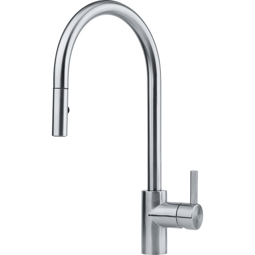 Franke Eos Neo Stainless Steel Mono Hole Mixer Kitchen Tap with Pull-Down Spout