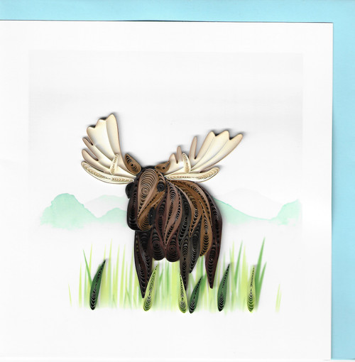 Quilled Moose Greeting Card