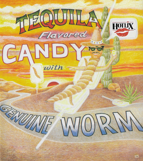 Hotlix Tequila Flavored Worm Suckers