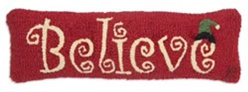 Believe - Hooked Wool Pillow