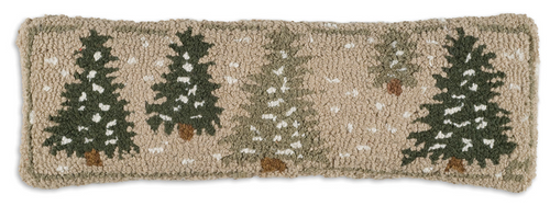 Frosted Trees - Hooked Wool Pillow