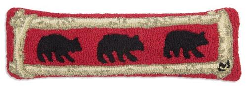 Birch Bears - Hooked Wool Pillow