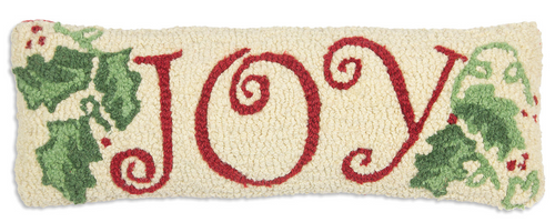Joy - Hooked Wool Pillow