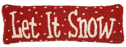 Let It Snow - Hooked Wool Pillow