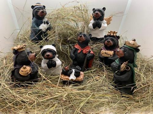 Bear Nativity Set 8 Piece
