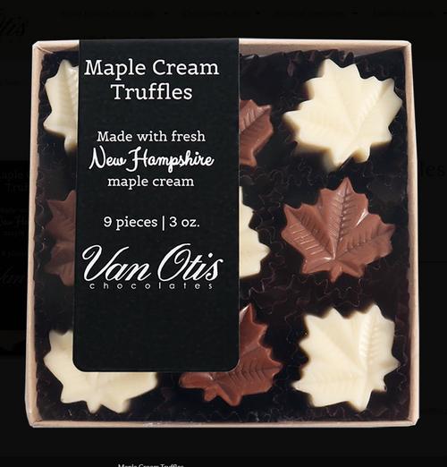 Maple Cream Truffles by Van Otis