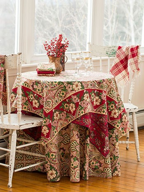 Kashmere Paisley Breakfast Cloth by April Cornell