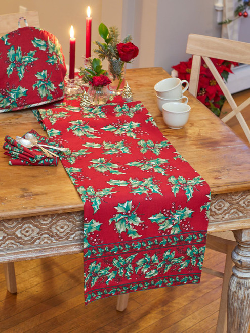 Holly Table Runner by April Cornell