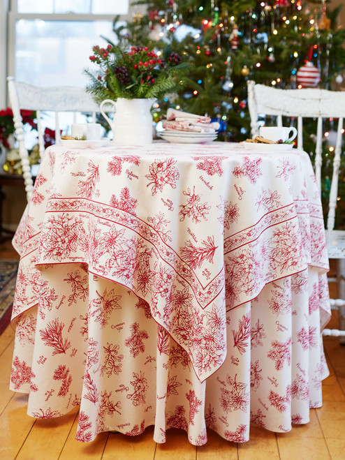 Christmas Botanical Breakfast Cloth by April Cornell
