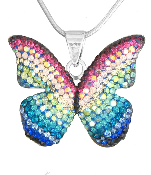 Mosaico Sterling Butterfly Pendant