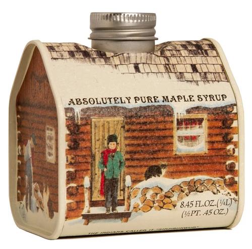 Pure Maple Syrup Log Cabin Tin 8.45oz