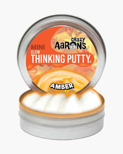 Crazy Aaron's Thinking Putty Amber Mini Tin