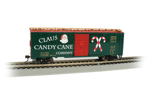 Claus Candy Cane Co. 40' Boxcar by Bachmann