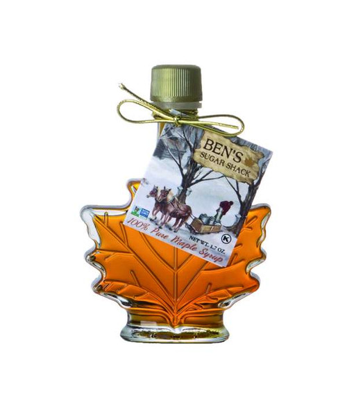 Pure Maple Syrup Leaf Decanter 1.7 oz.
