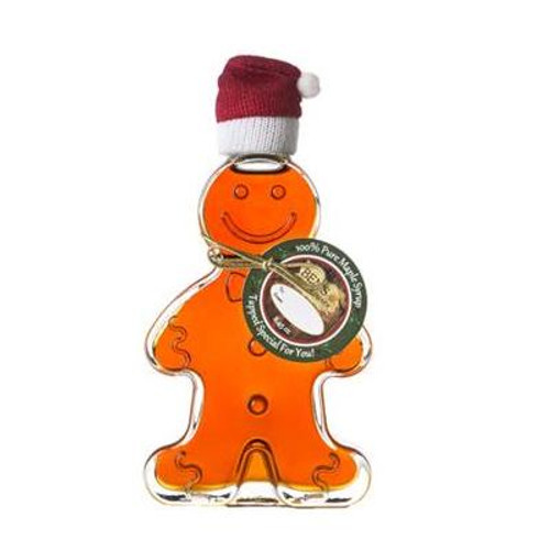 Pure Maple Syrup in Gingerbread Boy Glass Bottle
