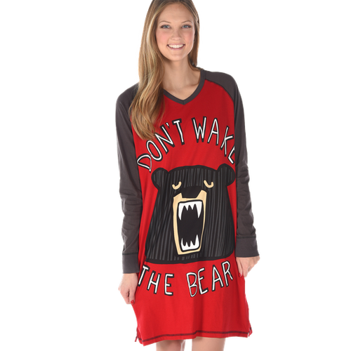 Don't Wake The Bear Nightshirt by Lazy One