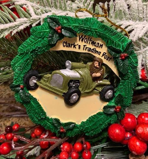 Wolfman Christmas Ornament