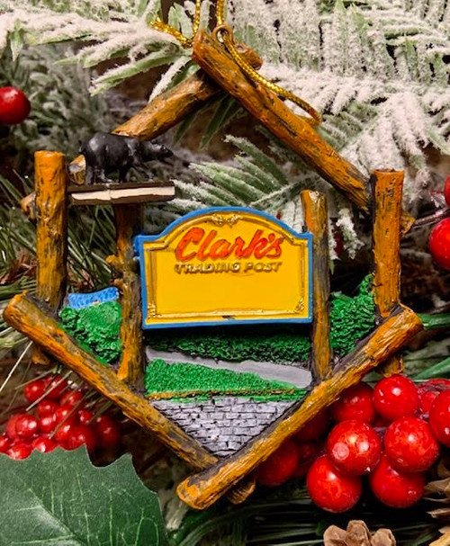 Clark's Trading Post Sign Ornament