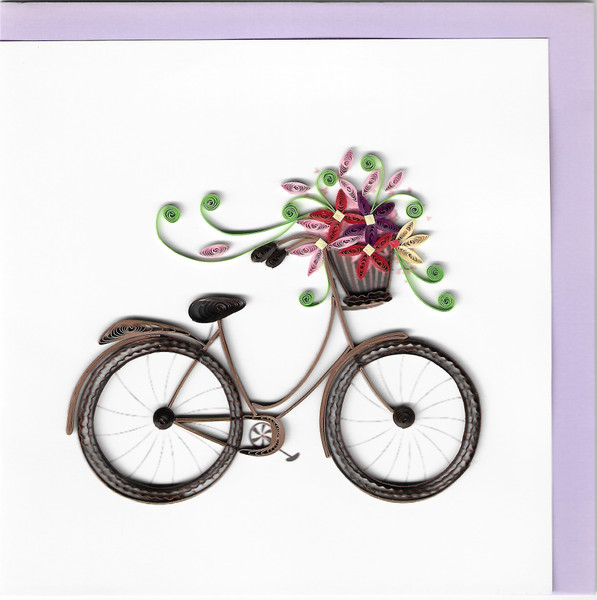 Quilled Bicycle Greeting Card