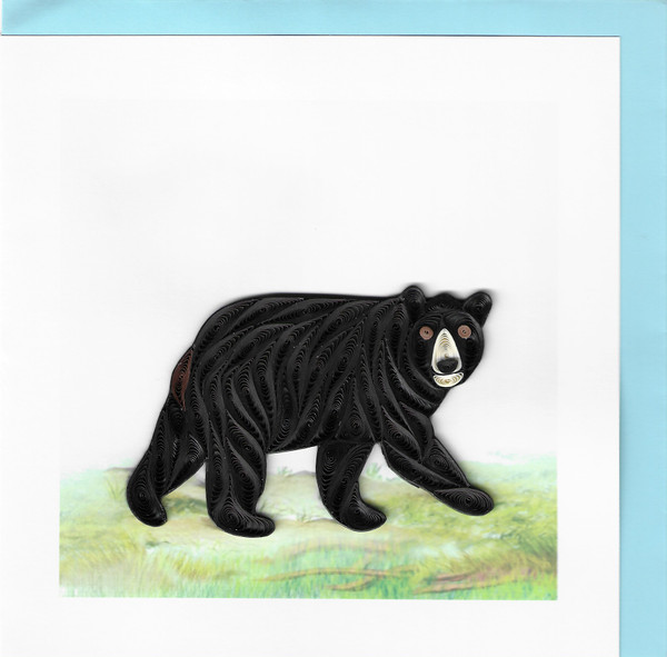 Quilled Bear Greeting Card