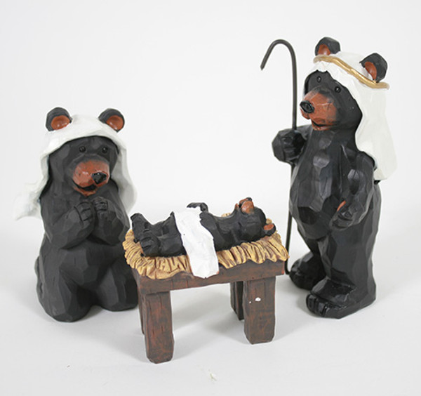 Bear Nativity Set 3 Piece
