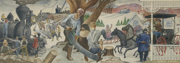 Early History of Lincoln, NH Mural Replica