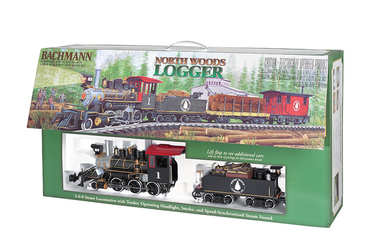 North Woods Logger Train Set Large Scale by Bachmann